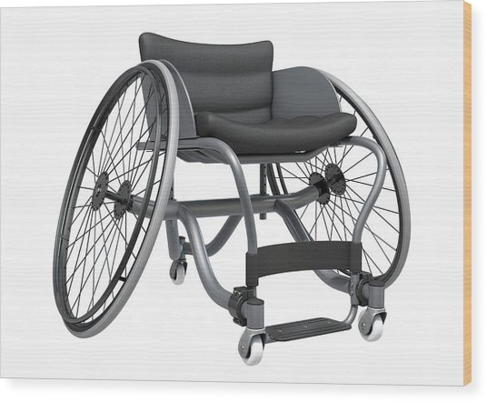 Sports Wheelchair Wood Print
