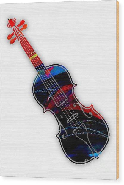 Violin Collection Wood Print