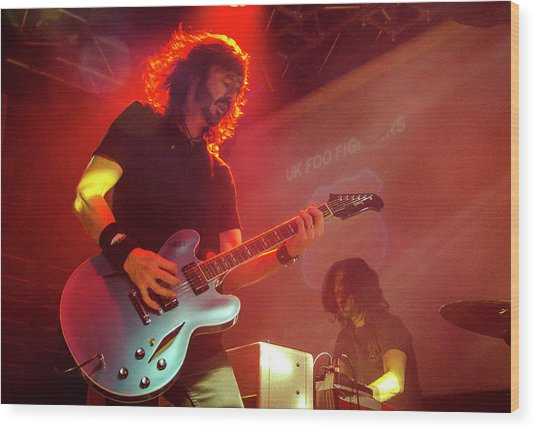 Uk Foo Fighters Live @ Edinburgh Wood Print