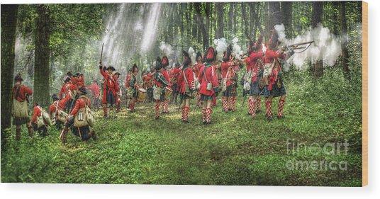 1763 Battle Of Bushy Run Pennsylvania Wood Print by Randy Steele