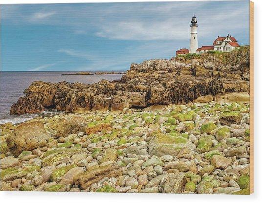 1791 Portland Head Light  -  1791portlandheadlighthouse185233 Wood Print by Frank J Benz
