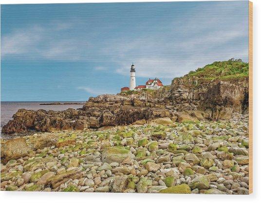 1791 Portland Head Lighthouse  -  1791portlandheadlight185245 Wood Print by Frank J Benz