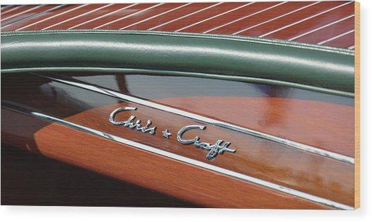 Classic Chris Craft Wood Print