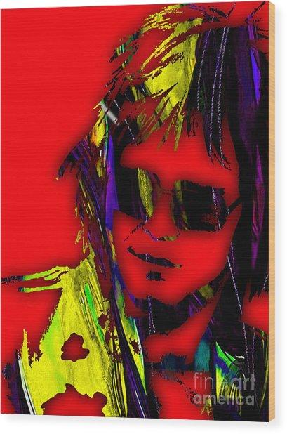 Elton John Collection Wood Print