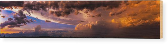 Nebraska Hp Supercell Sunset Wood Print