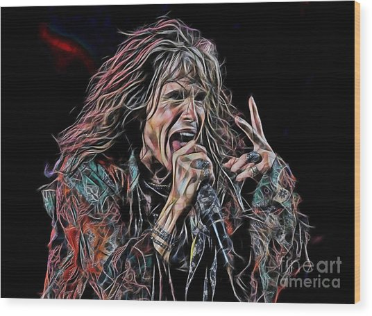 Steven Tyler Collection Wood Print