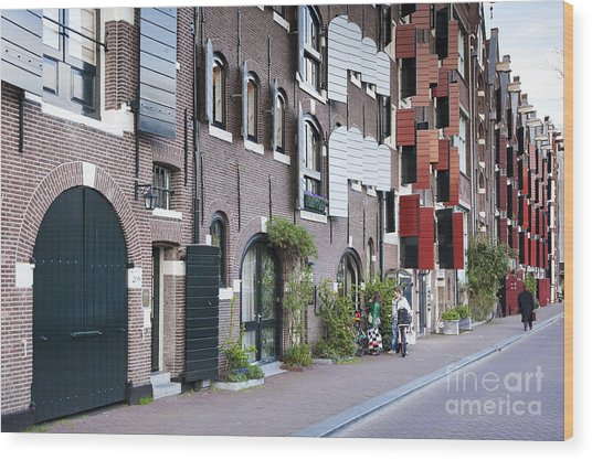 Streets Of Amsterdam Wood Print by Andre Goncalves
