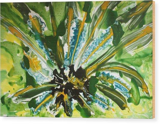 Heavenly Flowers Wood Print