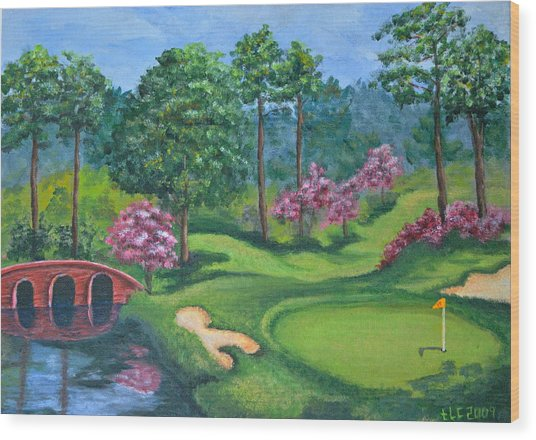 18th Hole Wood Print