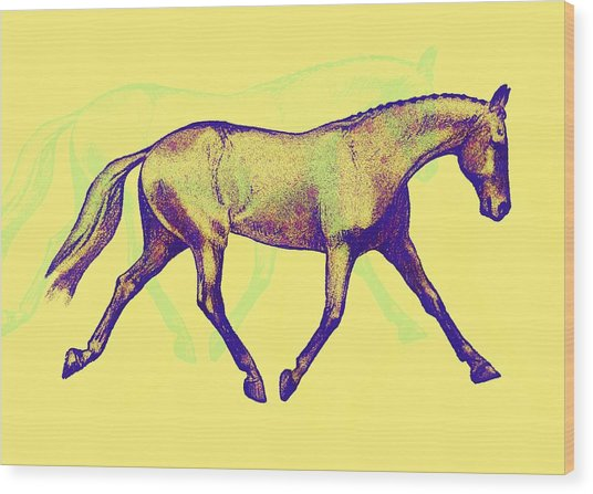 Lengthen Trot Deco Art Wood Print by JAMART Photography