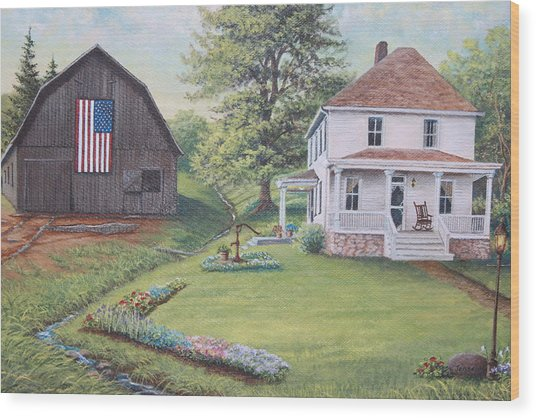 1900 4th Of July Wood Print by Diana Miller
