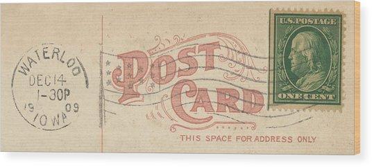 1909 Postcard Wood Print