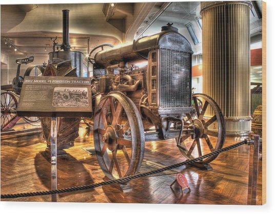 1917 Model 1 Fordson Tractor Dearborn Mi Wood Print