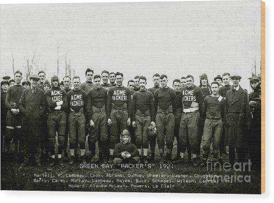 1921 Green Bay Packers Team Wood Print