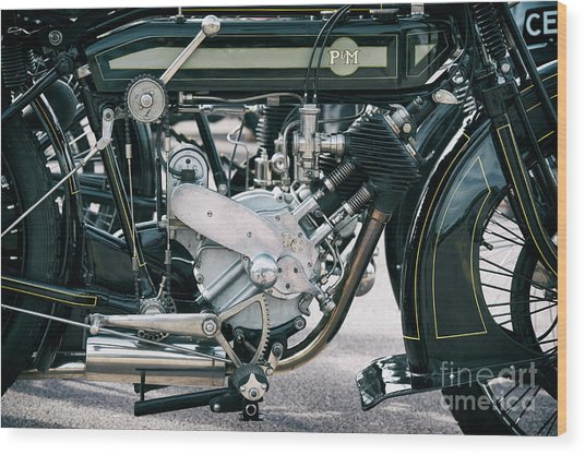 1921 P And M Motorcycle Wood Print by Tim Gainey