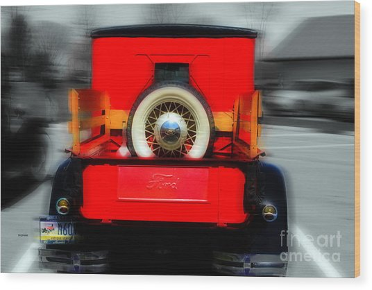 1928 Model A Ford  Wood Print by Steven Digman