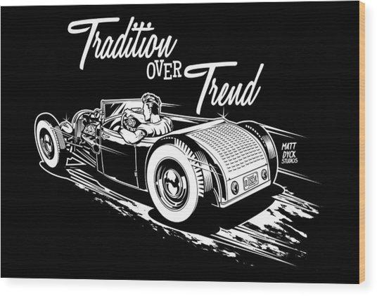 1929 Roadster Design Wood Print