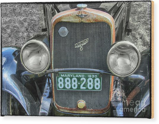 1930 Dodge Six  Wood Print by Steven Digman