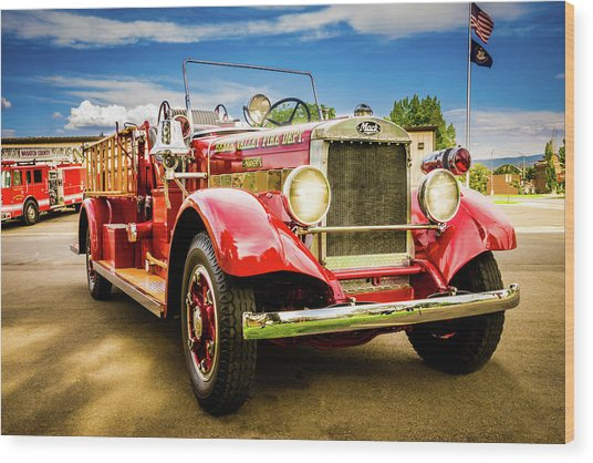 1931 Mack - Heber Valley Fire Dept. Wood Print