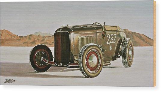 1932 Ford Rolling Bones Roadster Wood Print by Branden Hochstetler