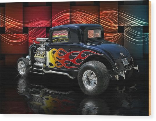 1932 Plymouth Coupe .... Wood Print by Rat Rod Studios