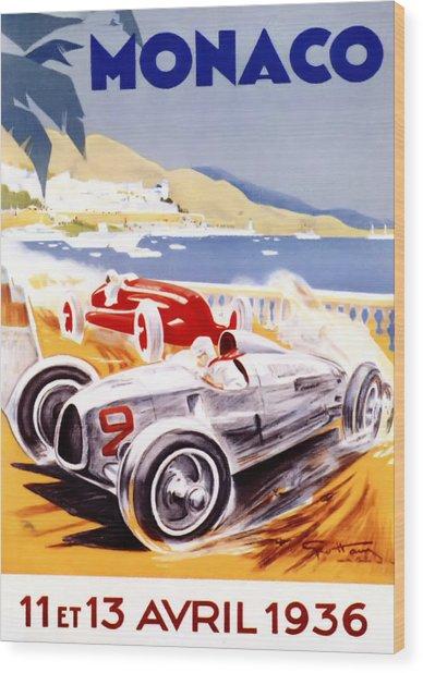 1936 F1 Monaco Grand Prix  Wood Print