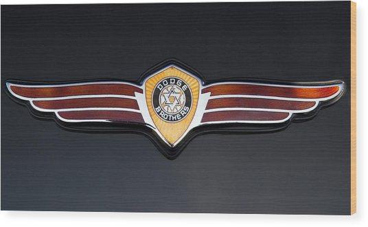 1937 Dodge Brothers Emblem Wood Print