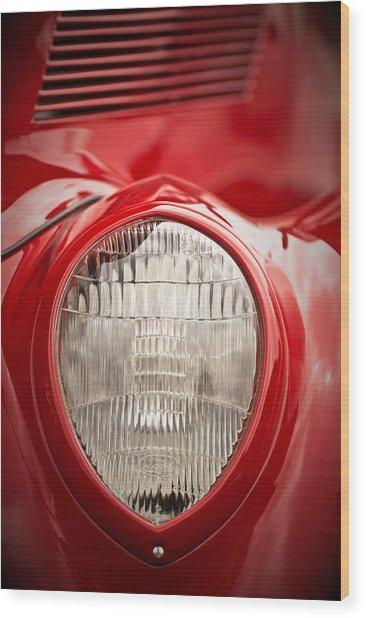 1937 Ford Headlight Detail Wood Print