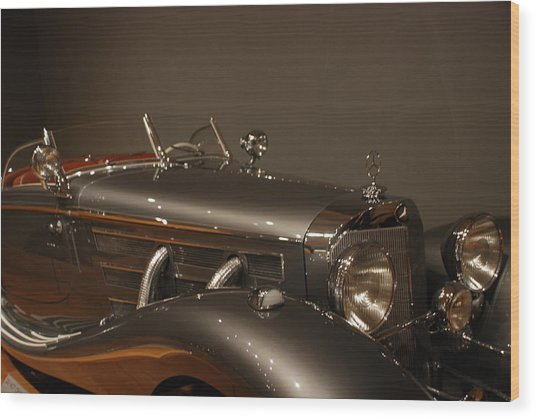 1937 Mercedes-benz 540k Special Roadster Wood Print
