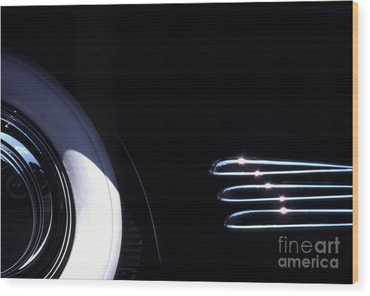 1938 Cadillac Limo With Chrome Strips Wood Print by Anna Lisa Yoder