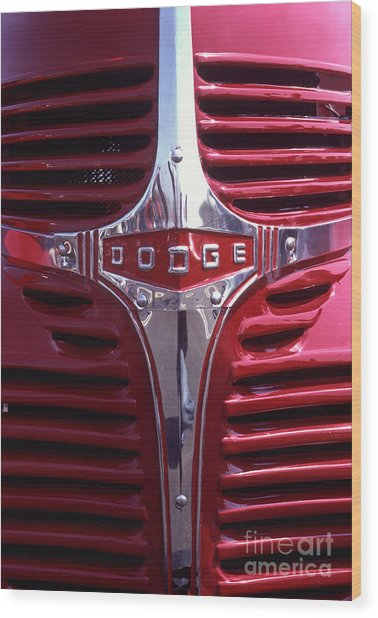 1938 Dodge Pickup Front End Wood Print by Anna Lisa Yoder