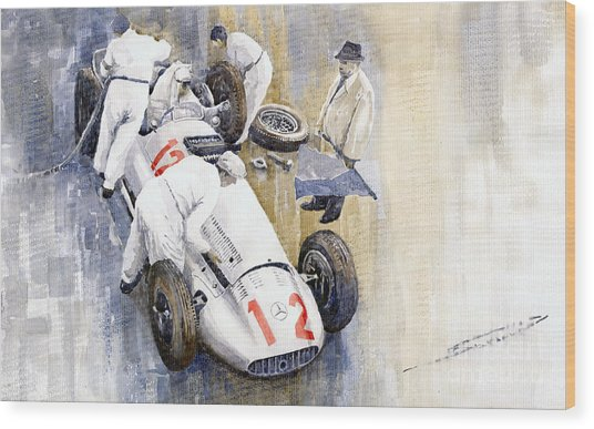 1939 German Gp Mb W154 Rudolf Caracciola Winner Wood Print