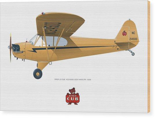 1939 Piper J3 Cub Wood Print