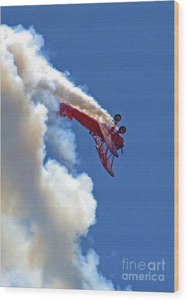 1940 Boeing Stearman Biplane Stunt 2 Wood Print