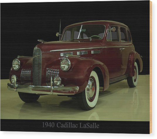 1940 Cadillac Lasalle Wood Print