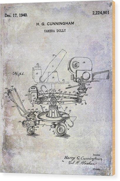 1940 Camera Dolly Patent Wood Print