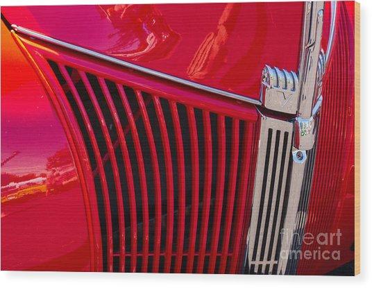 1940 Ford Pickup Grill Wood Print