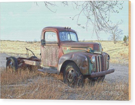 1940s Ford Farm Truck Wood Print