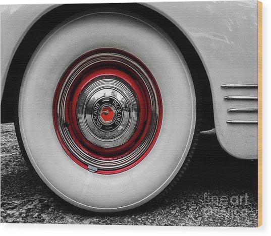 1941 Packard Convertible Wheels Wood Print