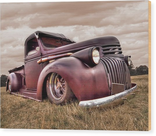 1941 Rusty Chevrolet Wood Print