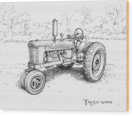 1942 Farmall Wood Print by Tanja Ware