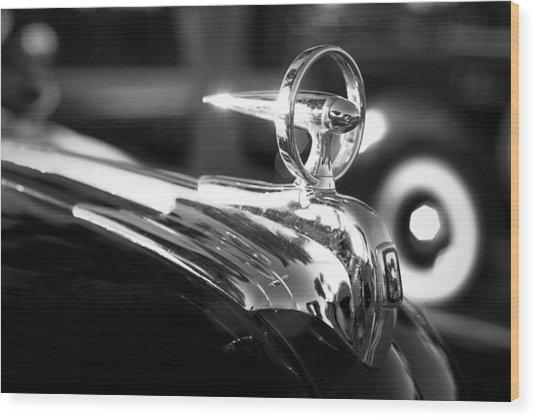 1946 Ford V8 Hood Ornament Wood Print