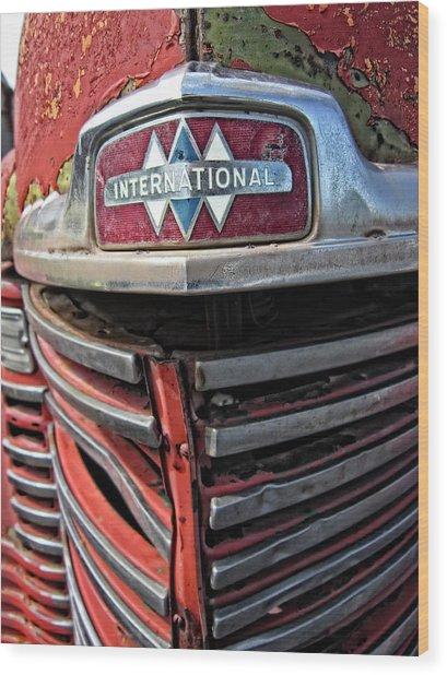 1946 International Harvester Truck Grill Wood Print