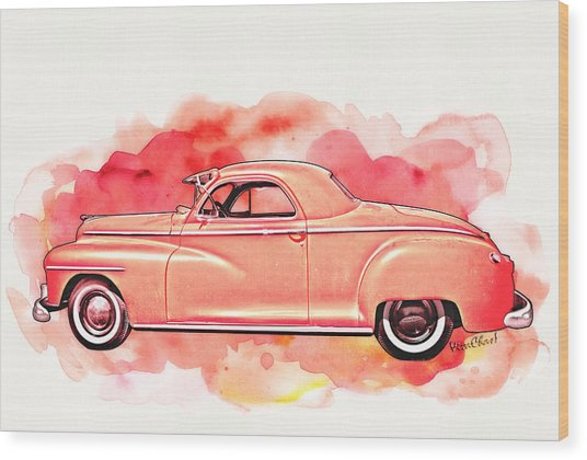 1948 Dodge Coupe As Seen In Luckenbach Texas By Vivachas Wood Print