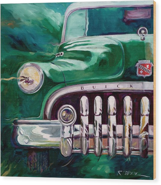 1950 Buick Roadmaster Wood Print by Ron Patterson
