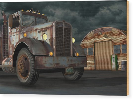 1950 Kenworth Wood Print