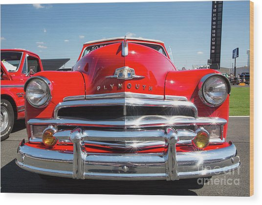 1950 Plymouth Automobile Wood Print