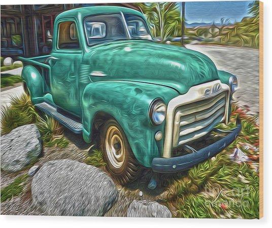 1950s Gmc Truck Wood Print