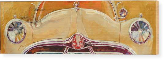 1951 Hudson Hornet Wood Print by Ron Patterson