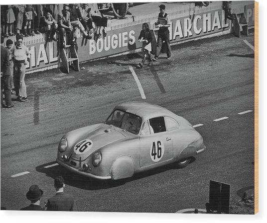 1951 Porsche Winning At Le Mans  Wood Print